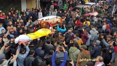 صورة تشييع ضحايا حريق مخيم النصيرات وسط القطاع
