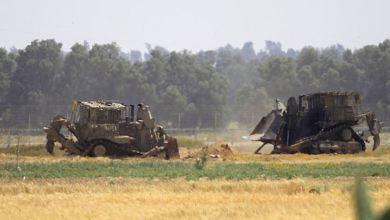 صورة توغل محدود لجرافات الاحتلال شرق خان يونس