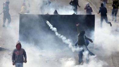 صورة إصابات بالاختناق في مواجهات مع الاحتلال بمدينة البيرة