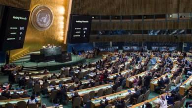 صورة الجمعية العامة تصوت بأغلبية على حق شعبنا بالسيادة
