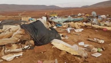 صورة الاحتلال يشرع بهدم خيام في خربة حمصة في الأغوار للمرة السادسة