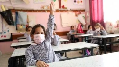 صورة استئناف الدراسة في مدارس الأونروا بغزة