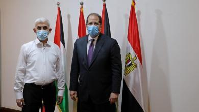 صورة رئيس المخابرات المصرية عباس كامل يصل غزة