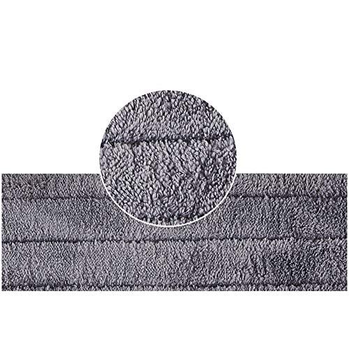 Balai à serpillière plate en microfibre avec tampon en microfibre réutilisable, idéal pour le bois dur, le stratifié, le carrelage, le vinyle humide et sec et le carrelage nettoyage des sols