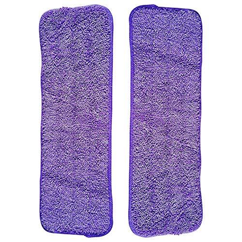 Tuneway 2 Serpilleres en Microfibre pour Balai Lave-Sol Pack Garantie de Remplacement valable a Vie Lavable 42cm x 38cm x 14,5cm Lingettes de Nettoyage pour Sol (2 au Total)