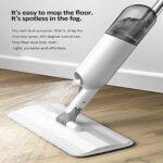 AILTAL Balai à vapeur portatif pour la maison, nettoyeur de sol/moquette – Spray électrique pour la maison et la cuisine – Blanc – Avec 1 chiffon