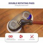 WWDD 2021 Nouveau USB Brosse rotative Nettoyage,sans Fil Rechargeable Balai Vapeur Réservoir,Nettoyeur de sols sans Fil Autonomie 90 Minutes,Double Balai Vapeur pour Baignoire