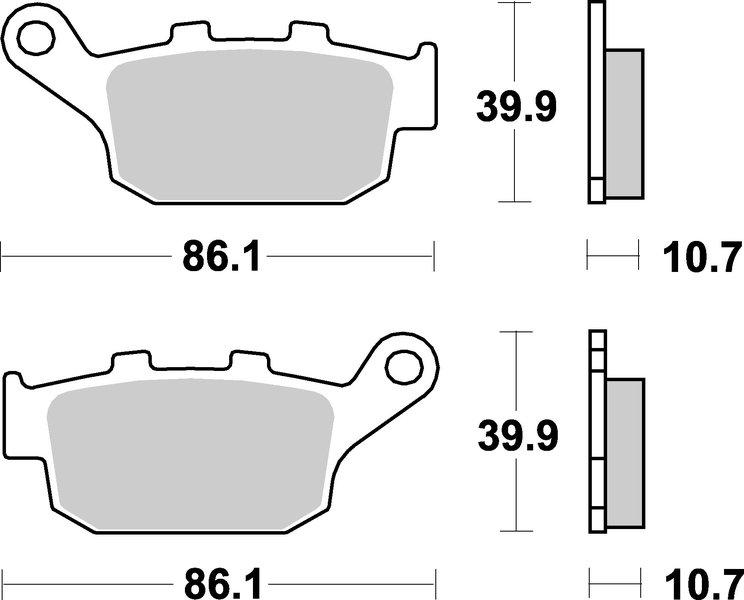 161HF Pastiglie Freno (coppia) HF Ceramic SBS