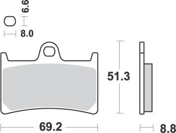634DS Pastiglie Freno (coppia) DS Dual Sinter SBS