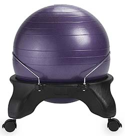 fitball balance ball chair best affordable office 2018 reviews gaiam luxfit isokinetic and more backless review