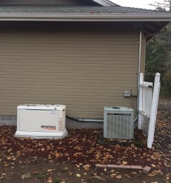 this generator was installed by the pump house and the service was upgraded from a zinsco meter main the house and the well are all on generator backup  [ 1224 x 1632 Pixel ]