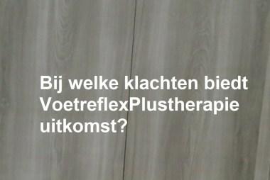 VoetreflexPlustherapie en klachten