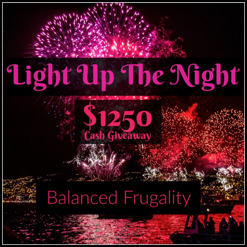Light Up the Night $1250 cash giveaway! Three lucky readers will win $400 USD through PayPal or Amazon gift card and we will also choose a 4th winner of $50!