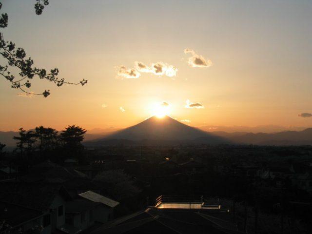 片瀬山からのダイアモンド富士