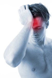 Mann mit Kopfschmerz - Burnout