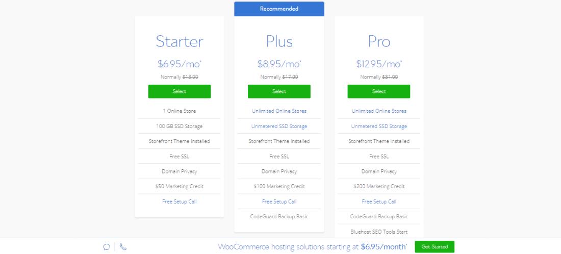 Bluehost ecommerce plan
