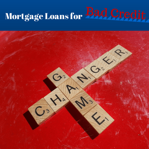 mortgage loans for bad credit 1