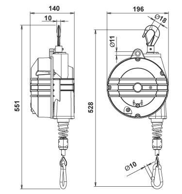 TECNA 9358AX Explosion Resistant Balancers