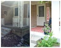 Porch Makeover Reveal & How DIY Street Number Sign ...