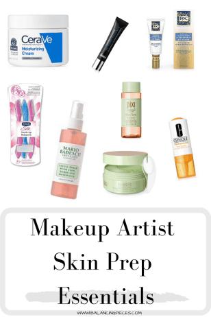 Makeup Artist Skin Prep Essentials