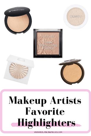 Makeup Artists Favorite Highlighters