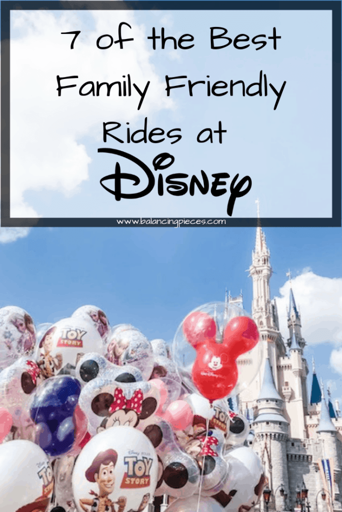 Orlando Lifestyle Blogger, Kristen from Balancing Pieces is sharing the 7 of the Best Family Friendly Rides at Disney World.