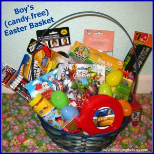 Boy Candy Free Easter Basket
