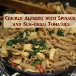 chicken alfredo with spinach and sun-dried tomatoes