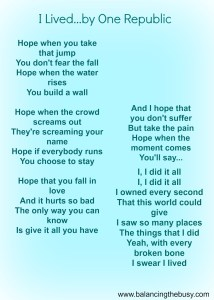 i lived by one republic