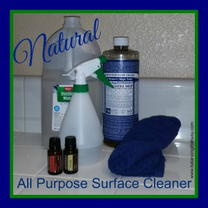 Ingredients for natural all purpose surface cleaner