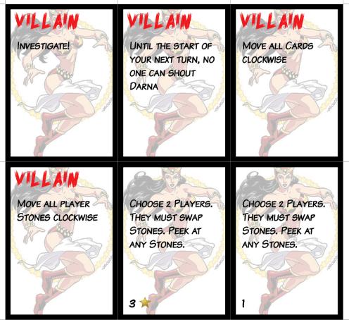 Darna Microgame Villain Cards