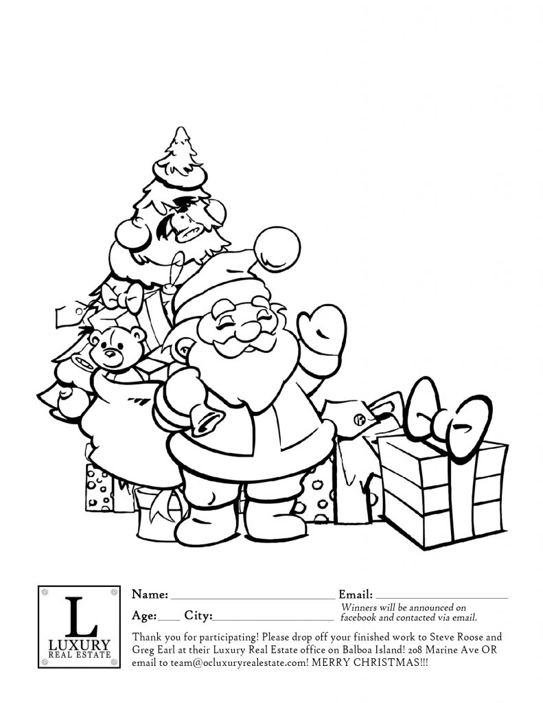 Christmas Coloring Contest