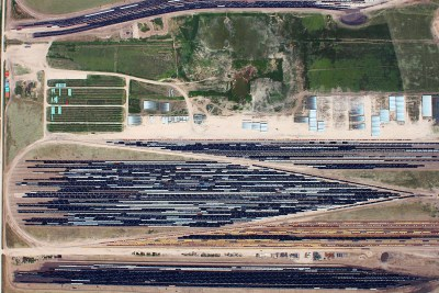 Aerial Mapping Oil and Gas, Industrial and Commercial TNW Rail Yard