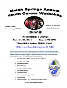 Youth Career Workshop 2014 FLyer