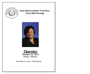 State Rep.ToniRose 10-23-14 TownHall Meeting