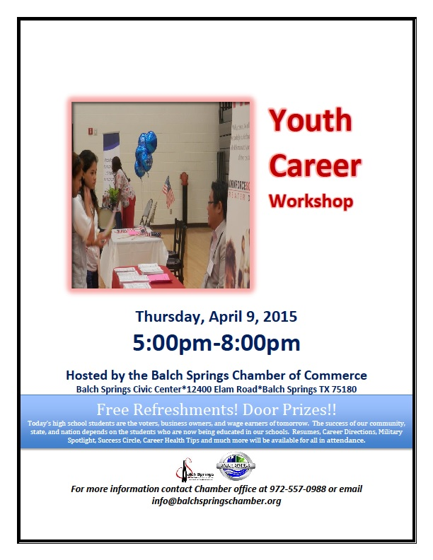 Youth Career Workshop 2015 FLyer