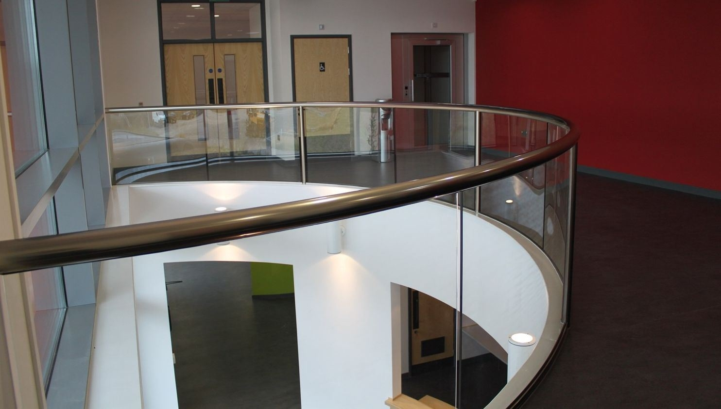 Interior Glass Banisters Glass Balustrade Railing Glass   Glass And Chrome Banisters   Designer   Wooden Glass   Frosted Glass   Oak   Contemporary