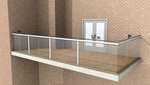 Glass Balustrade Maximum Post Spacing   Glass Handrails For Balcony   Glass Guardrail   Exterior   Stainless Steel   Staircase   Veranda