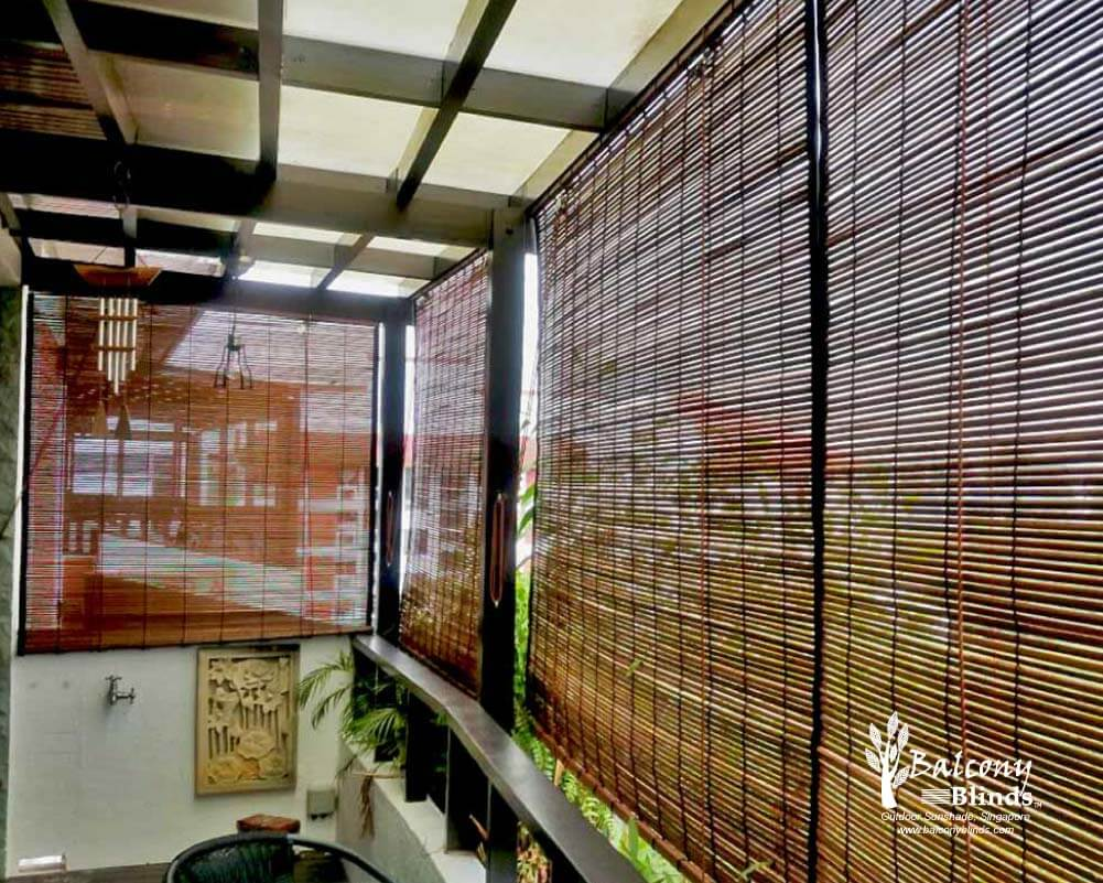 Window blinds kah huat textile co - Outdoor Bamboo Chick Blinds Singapore