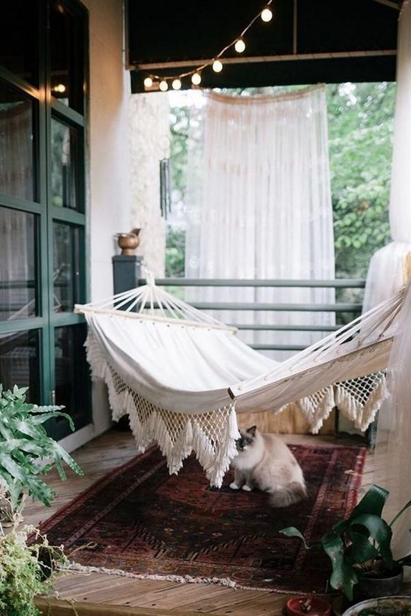 balcony hammock ideas for apartments