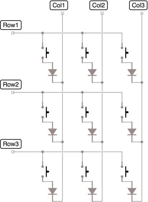 small resolution of 9x9 keyboard matrix