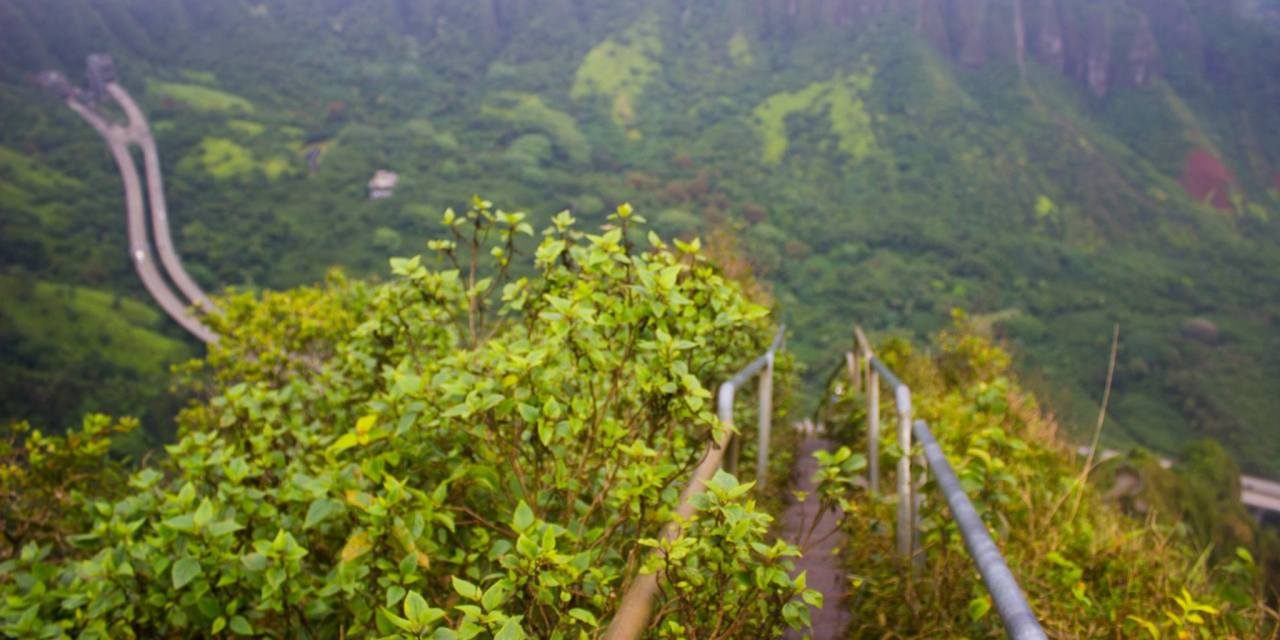 Stairway to Heaven - Oahu, Hawaii - Bald Girl Big World
