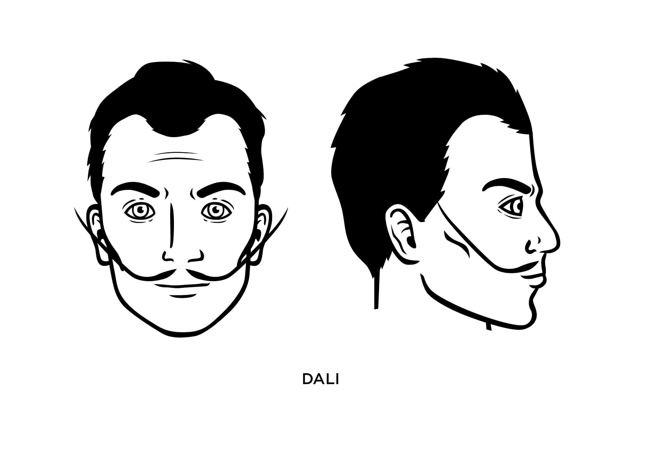 Dali Mustache Balding Beards
