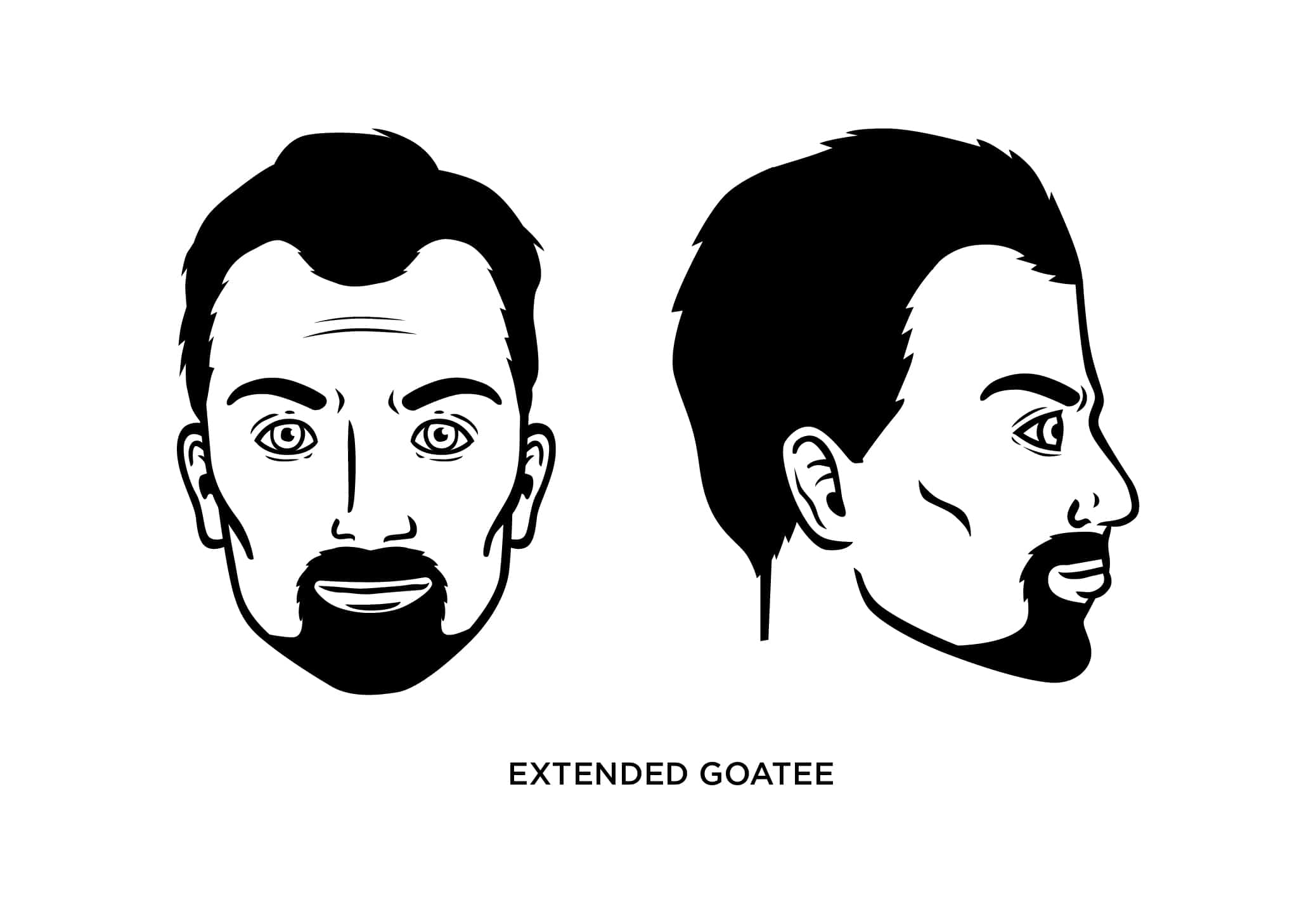 The Extended Goatee Style: How to Trim, Guide, Examples