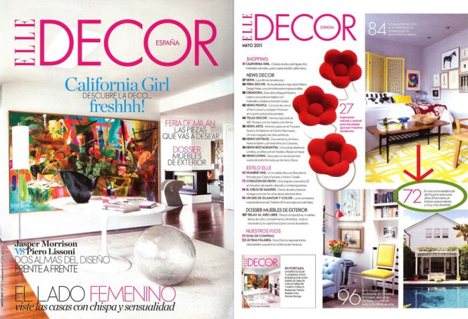 Check Out The Spread In Elle Decor
