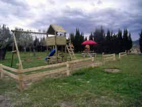 Kinderspielplatz auf dem Campingplatz