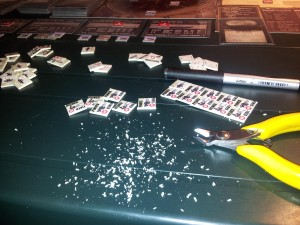 Tipica scrivania di un feticista del gioco da tavolo