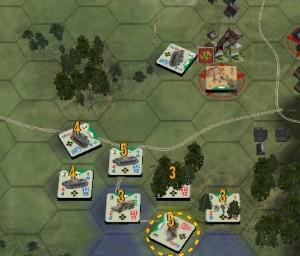 (fig.3) Il Carro assalta la fanteria nel villaggio