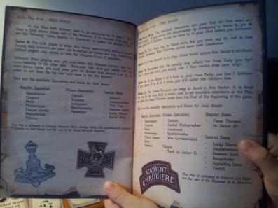 Il manuale, ottimamente stampato e rilegato, di D-Day Dice