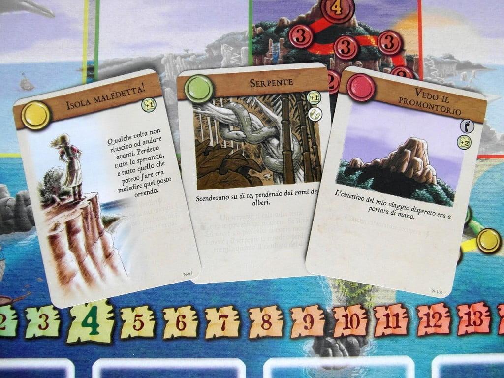 Carte Eplorazione: una per ogni mazzo. Il testo tematico è in genere buono.